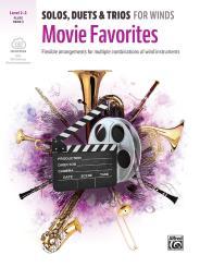 Movie Favorites (+Audio online) for 1-3 wind instruments (ensemble), flute/oboe score