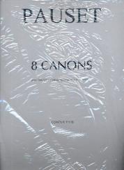 Pauset, Brice: 8 Canons pour hautbois d'amour et ensemble instrumental, partition