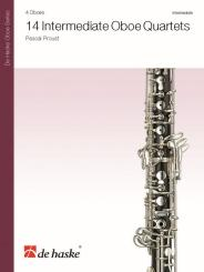 Proust, Pascal: 14 intermediate Oboe Quartets for 4 oboes, score and parts