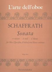 Schaffrath, Christoph: Sonate d-Moll für Oboe (Flöte, Violine) und Bc