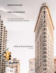 Schnyder, Daniel: Suite Symphonique für Oboe (Klarinette) und Fagott (Bassklarinette), Partitur und Stimmen
