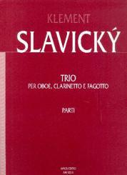 Slavicky, Klement: Trio per oboe, clarinetto e fagotto, parti