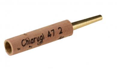 Oboe staple: Chiarugi Type 2, brass - 47mm