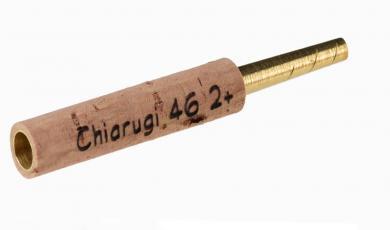 Tubo tornito per oboe: Chiarugi tipo 2+, ottone - 46mm