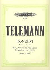 Telemann, Georg Philipp: Konzert E-Dur für Flöte, Oboe, Viola d'amore, Streicher und Cembalo für Flöte, Oboe, Viola d'amore und Klavier