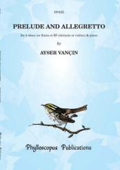Vancin, Ayser: Prelude and Allegretto for 4 oboes (clarinets/violins) and piano, score and parts