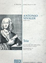 Vivaldi, Antonio: Trio für konzertierende Altblockflöte, Oboe und Bc