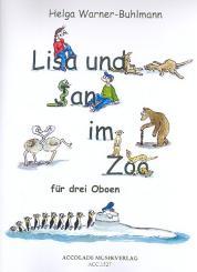 Warner-Buhlmann, Helga: Lisa und Jan im Zoo für 3 Oboen, Partitur und Stimmen