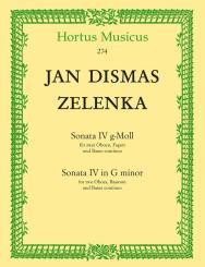 Zelenka, Jan Dismas: Sonate g-Moll Nr.4 für 2 Oboen, Fagott und Bc