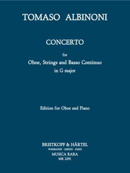 Albinoni, Tomaso: Concerto in G-Major for Oboe, Strings and Bc for oboe and piano