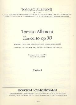 Albinoni, Tomaso: Concerto op.9,3 für 2 Oboen und Streicher, Violine 1