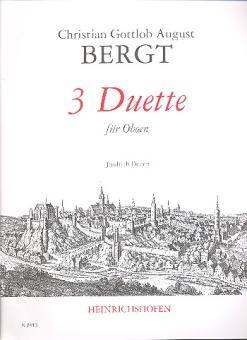 Bergt, Christian Gottlob: 3 Duette für 2 Oboen