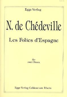 Chèdeville Le Cadet, Nicolas: Les folies d'Espagne für 2 Oboen, Spielpartitur