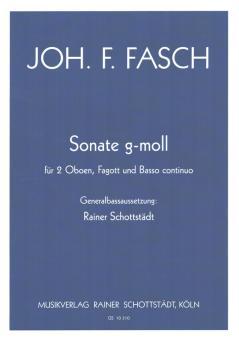 Fasch, Johann Friedrich: Sonate g-Moll für 2 Oboen, Fagott und Bc