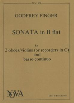 Finger, Gottfried: Sonata B flat major for 2 oboes and piano, parts
