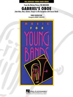 Morricone, Ennio: Gabriel's Oboe for solo oboe (fl, clar, trp, alto sax) and concert band, score