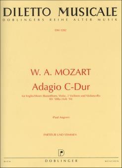 Mozart, Wolfgang Amadeus: Adagio C-Dur KV580a für Englischhorn, 2 Violinen und Cello, Partitur und Stimmen