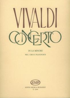 Vivaldi, Antonio: Konzert a-Moll RV536 für 2 Oboen und Klavier